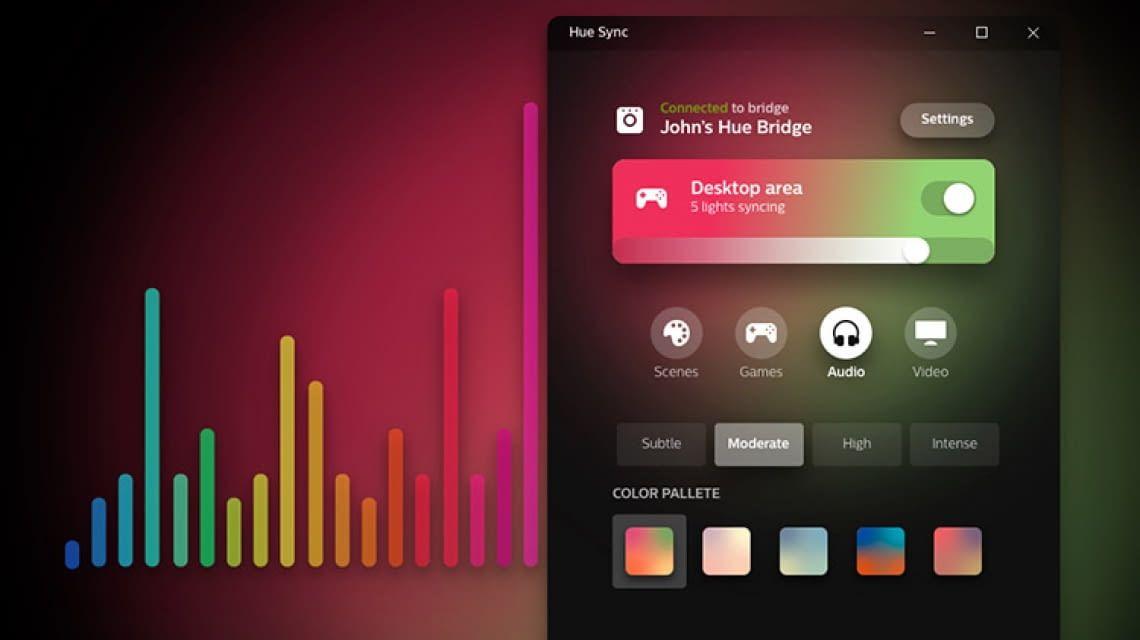 Philips Hue Sync mit Musik, Games und Video verbinden – so