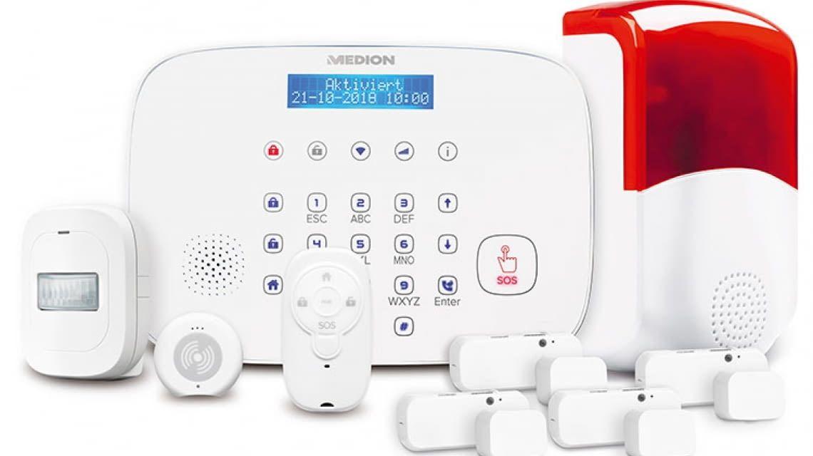 medion p85774 smart home alarmsystem bei aldi nord. Black Bedroom Furniture Sets. Home Design Ideas
