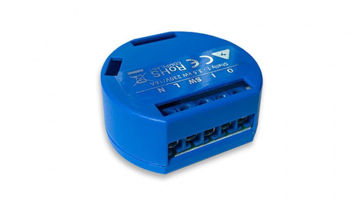 Doppelpack Shelly 1 One Relaisschalter Wireless WiFi kompatibel Alexa und Google Home und MQTT