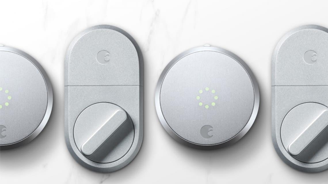 Silver & August Smart Keypad August Smart Lock HomeKit Enabled Dark Gray  mimbarschool.com.ng