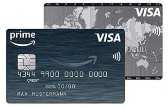 Die Amazon.de Visa Kreditkarte zahlt sich für sie aus. Für Prime-Mitglieder ist die Karte kostenlos. Jetzt beantragen und Vorteile sichern.