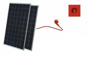 Balkonkraftwerk JA Solar 560W inkl. Microwechselrichter