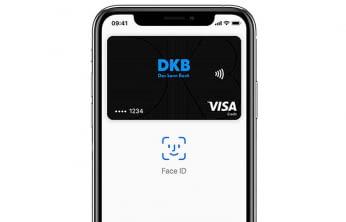 Per Face ID eine Apple Pay-Zahlung via DKB-VISA-Card anweisen - so einfach geht Bezahlen heute