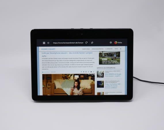 Mit Echo Show kann man auch im Internet surfen, Filme anschauen u.v.m.