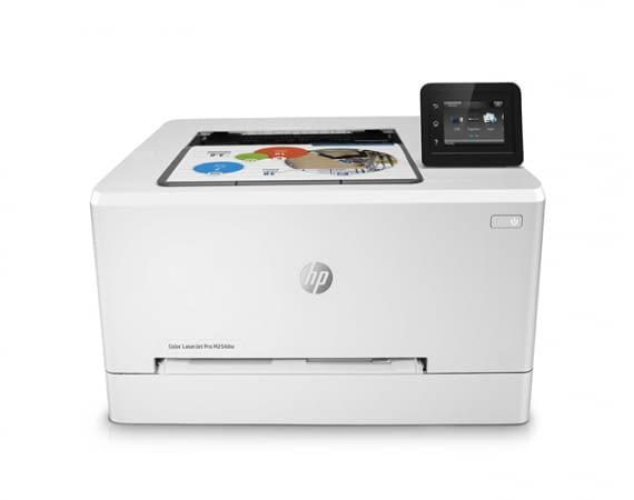 HP Color Laserjet Pro M254dw erreicht eine Druckgeschwindigkeit von bis zu 21 S./Min (Farbe oder schwarzweiß)