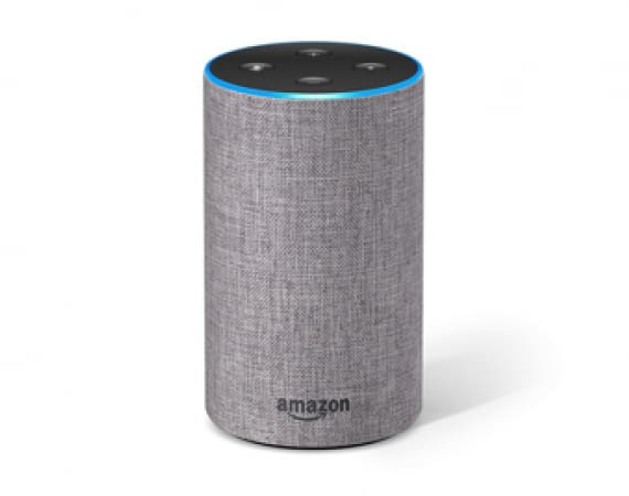 Amazon Echo (2. Generation) in Stoff Hellgrau