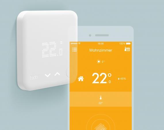 Tado Heizungsthermostat mit Appsteuerung