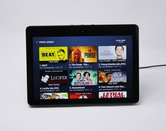 Auch Amazon Prime-Kunden können ihre Lieblingsvideos über Echo Show streamen
