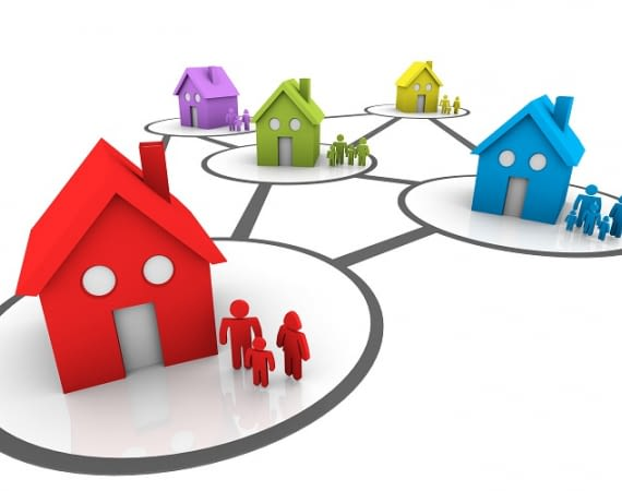 Die Nachbarschaft verbindet sich über die Heimwaechter-App