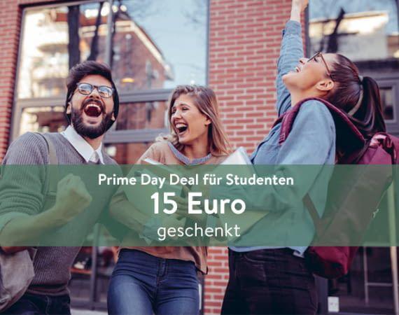 Amazon Prime Day Deal: Amazon Prime Student ein Jahr gratis nutzen und 15 Euro geschenkt erhalten