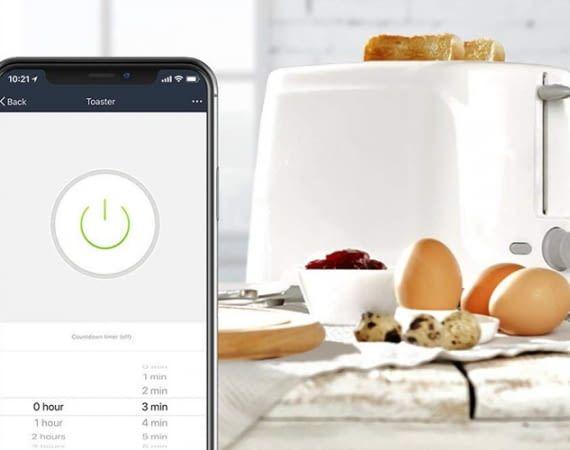 Die Timer-Funktion der WLAN-Steckdose TECKIN macht alte Toaster smarter