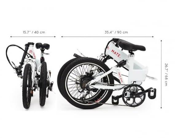Die Maße von E-Bike Mate im geklappten Zustand
