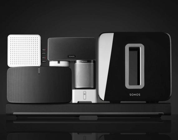 Abbildung der Sonos Audio Multiroom Geräte