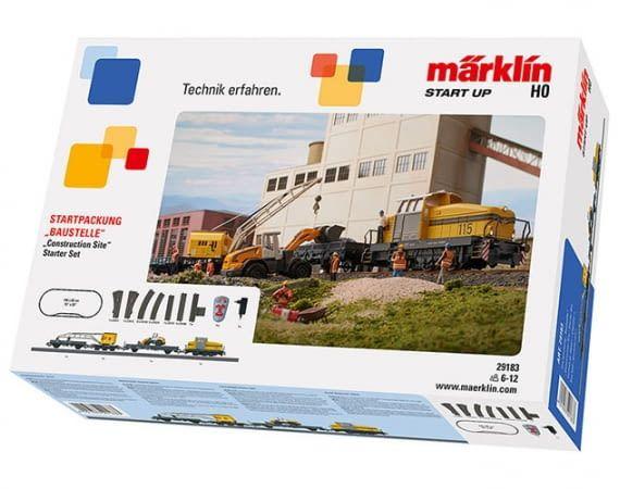 """Die Märklin Start up – Startpackung """"Baustelle"""" mit Gleisen und kompletten Bauzug"""