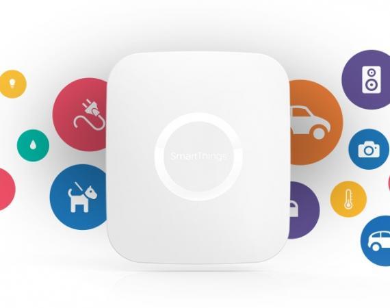 Abbildung des SmartThings Hub. Das Gehirn des Smart Home Systems