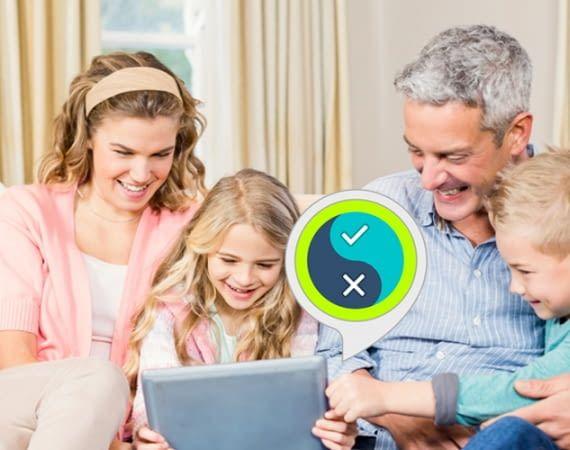 Spieleabend oder Familiennachmittag – der Richtig oder Falsch Skill sorgt für Unterhaltung