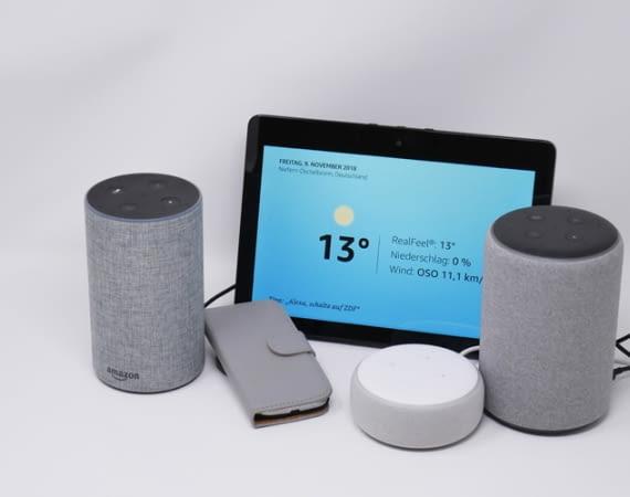 Alexa App und Sprachsoftware sind mit vielen Lautsprechern kompatibel