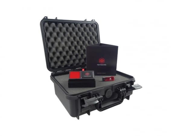 Das Toposens Evaluierungskit enthält einen 3D-Ultraschallsensor V 1.0 und ein Visualisierungssoftware-Tool
