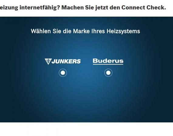 Junkers HomeCom - Connect Check
