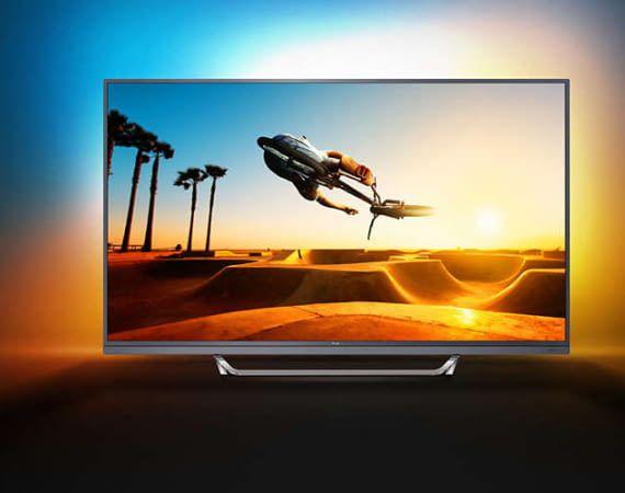 Riesiger Phlips TV 65PUS7502 mit Ambilight und Andorid