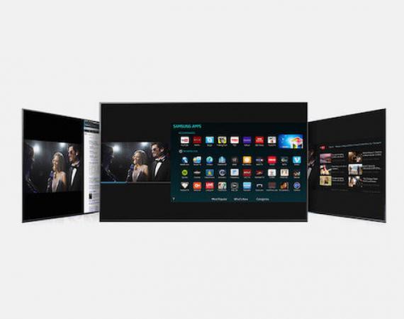 Bild eines SUHD TV von Samsung mit Multi-Link Funktion