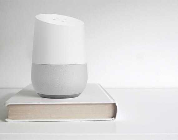 Die Sprachsoftware Google Assistant und ist u.a. auf dem Google Home Lautsprecher installiert