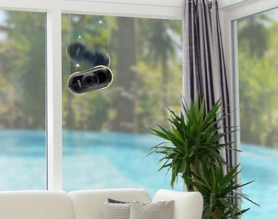 Der Fensterputzroboter PR 127 V4 reinigt gründlich jeden Winkel