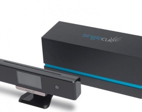 Das OneCue Smart Home Gerät zum Steuern der verschiedenen Geräte