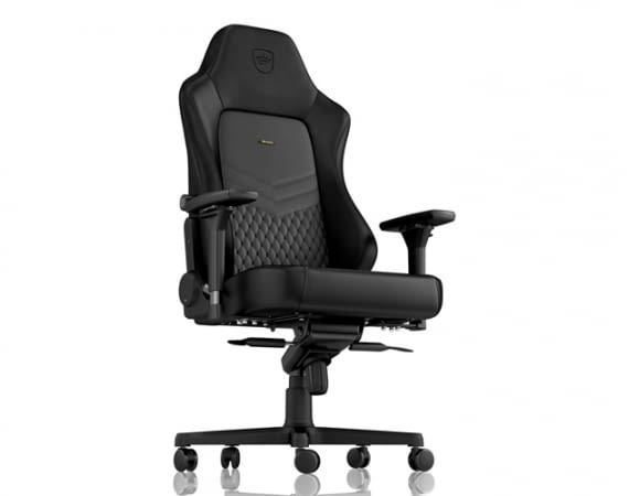 Der noblechairs HERO Gaming-Stuhl in Echtleder verspricht komfortables und ergonomisches Sitzen über Stunden