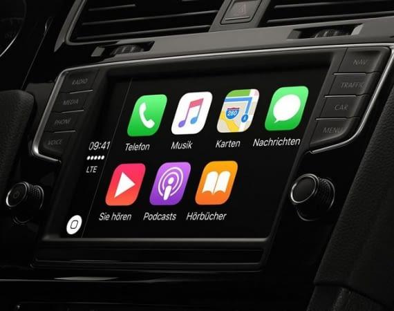 Apples Benutzeroberfläche CarPlay verwaltet im Auto Navigation, Anrufe, Nachrichten - und neuerdings auch Amazon Music