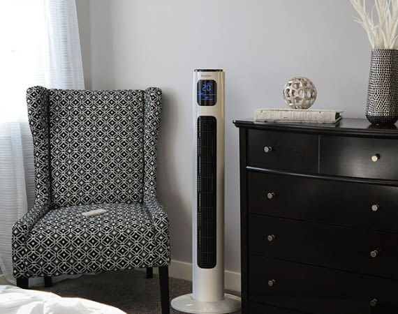 Turmventilatoren benötigen nur wenig Platz im Raum