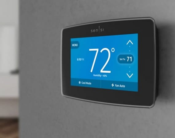 Sensi Touch Wi-Fi Thermostat ist mit iPad, Tablet oder iPhone steuerbar