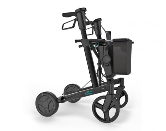 ello ist der elektrische Rollator des Tech-Startups eMovements. Nutzer erhalten damit mehr Sicherheit und Mobilität zurück