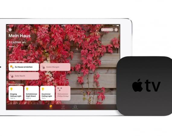 Das Apple TV in 4. Generation dient als Steuerungszentrale für HomeKit