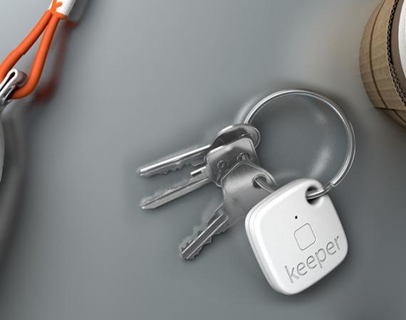 Gigaset keeper Bluetooth-Tracker findet Schlüssel