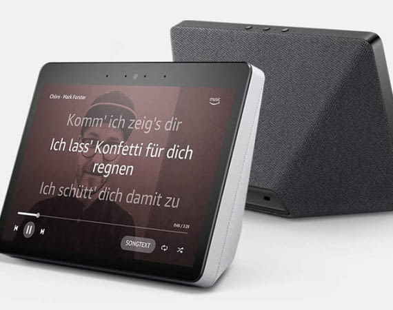 Mit Amazon Music Unlimited oder Amazon Prime Music kann Amazon Echo Show die Song-Texte anzeigen