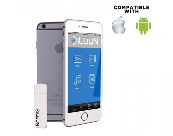iLuun Air ist auch als mobiler Datenspeicher für Musik geeignet