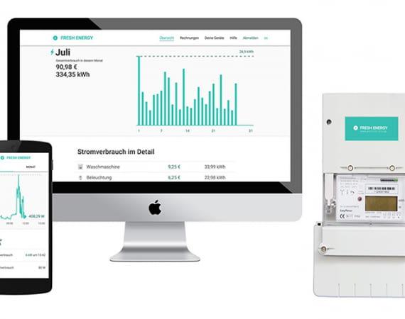 Smart Meter für lau, Ökostrom und Verbrauchs-App – Das Energie-Konzept von Fresh Energy