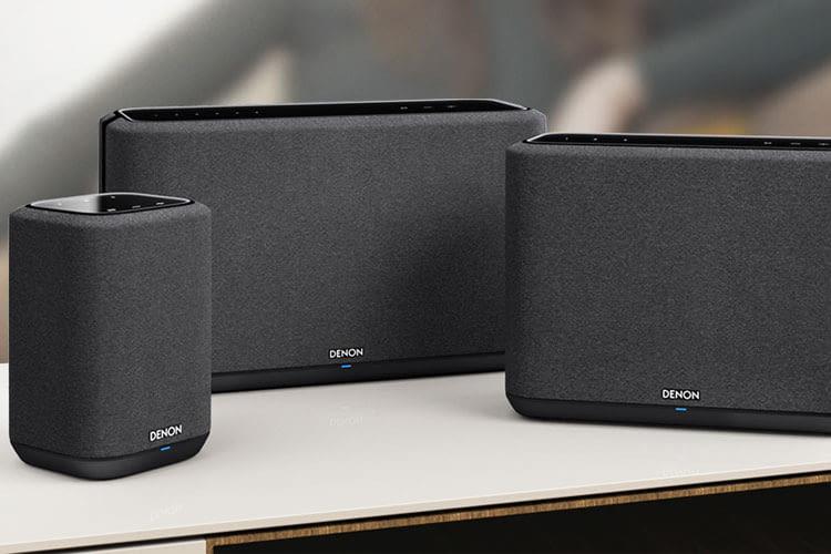 Denon bietet neben HEOS Multiroom Lautsprechern auch Denon Home Lautsprecher