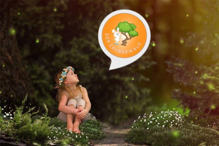 Kleine Abenteurer werden vom interaktiven Zauberwald-Skill in den Bann gezogen