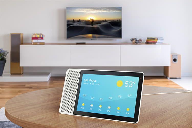 Das intelligente Lenovo Display mit Sprachassistent Google Assistant mach eine gute Figur
