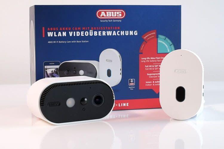 Bei der ABUS Akku Cam werden Inhalte lokal über eine Speicherkarte in der Basisstation gesichert