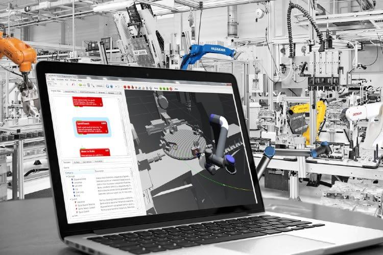 Dank des vorgegebenen Baukastens lassen sich Roboteranwendungen problemlos zusammenstellen