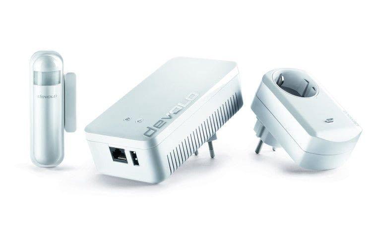 Devolo dLAN 500 WiFi Adapter, Home Control Luftfeuchtigkeitsmelder, Wassermelder