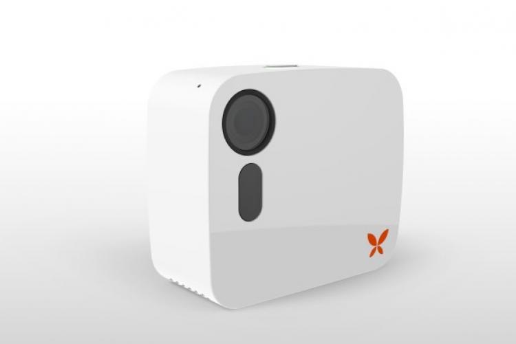 Die Butterfleye Überwachungskamera kann 12 Stunden Filmmaterial speichern