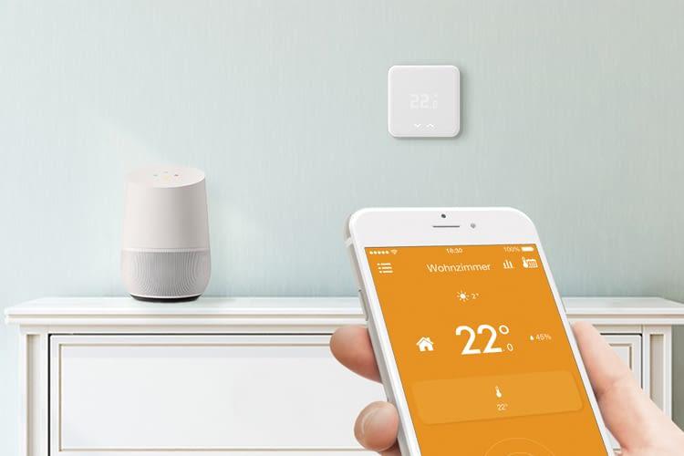 Kompatibel mit HomeKit, Echo und Google Home: tado° appgesteuertes Heizungsthermostat