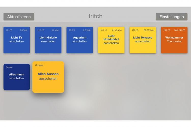fritch App - FRITZ!DECT 200 Aktoren über iPhone, iPad oder AppleTV steuern