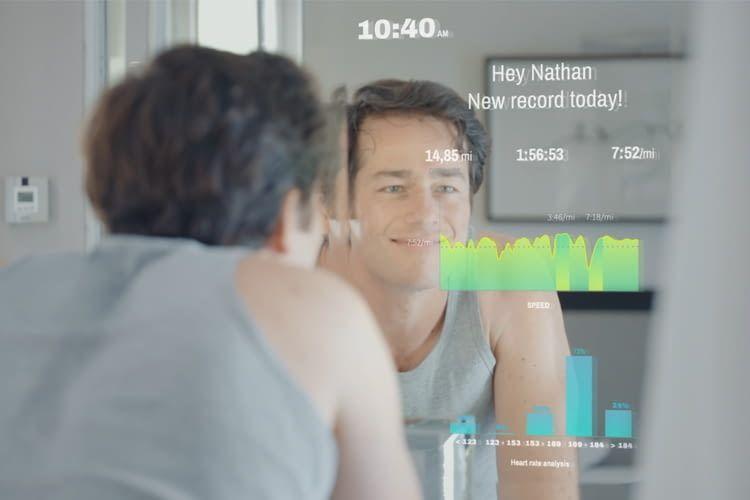CareOS verbindet Fitness-Tracker, Waage, Zahnbürste und Smartphone mit dem Spiegel