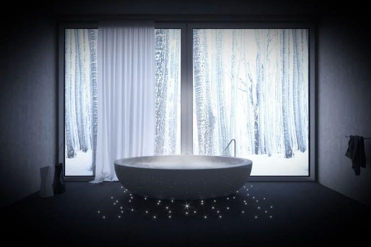 Das Start-up SIUT ermöglicht mit seinem Lichtfaserbeton zauberhafte Gestaltungskonzepte mit Licht im Bad