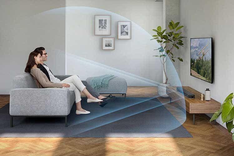 Die Soundbar Sony HT-X8500 bietet moderne Anschlüsse und unterstützt sogar Dolby Atmos 3D-Sound